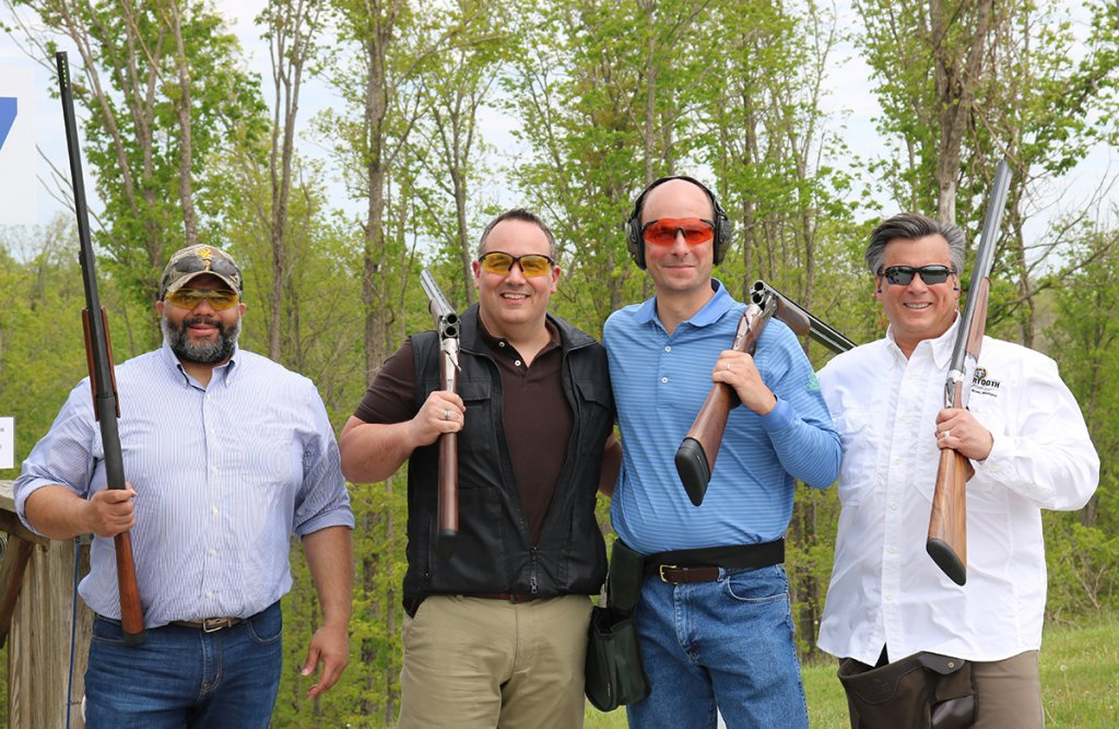 stepping-stones-sporting-clays-tournament-calfee-team-Aric-Hassel-Matt-Parrish-Jeff-Gibson-John-Mongelluzzo