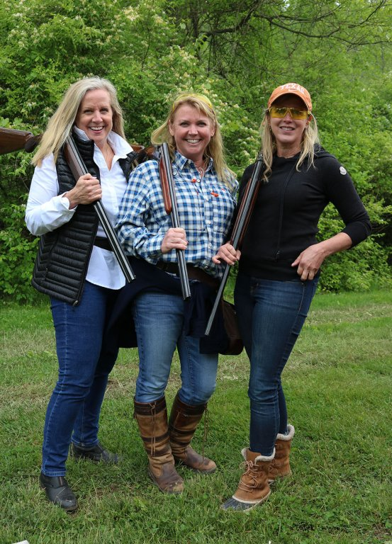 Stepping-stones-sporting-clays-tournament-kerry-mongelluzzo-ann-gibson-leanne-irvine-cincinnati