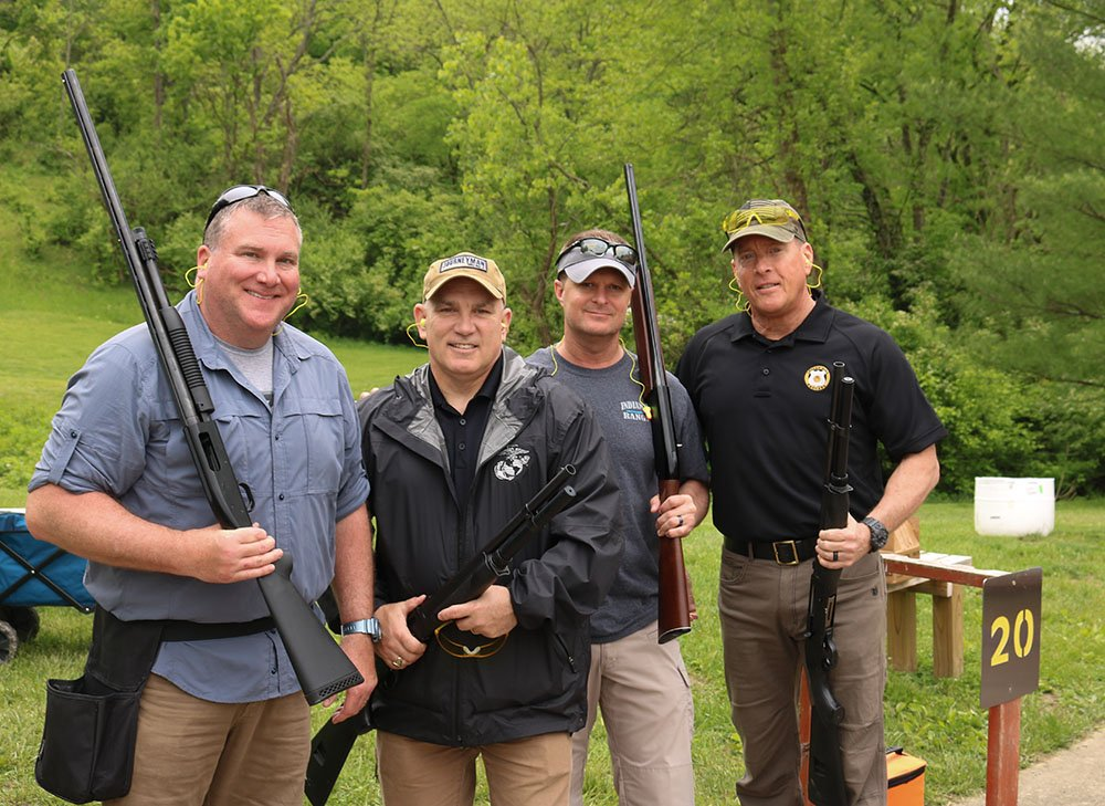 stepping-stones-sporting-clays-tournament-indian-hill-rangers-mike-dressell-chief-chuck-schlie-shawn-perdue-steve-makin