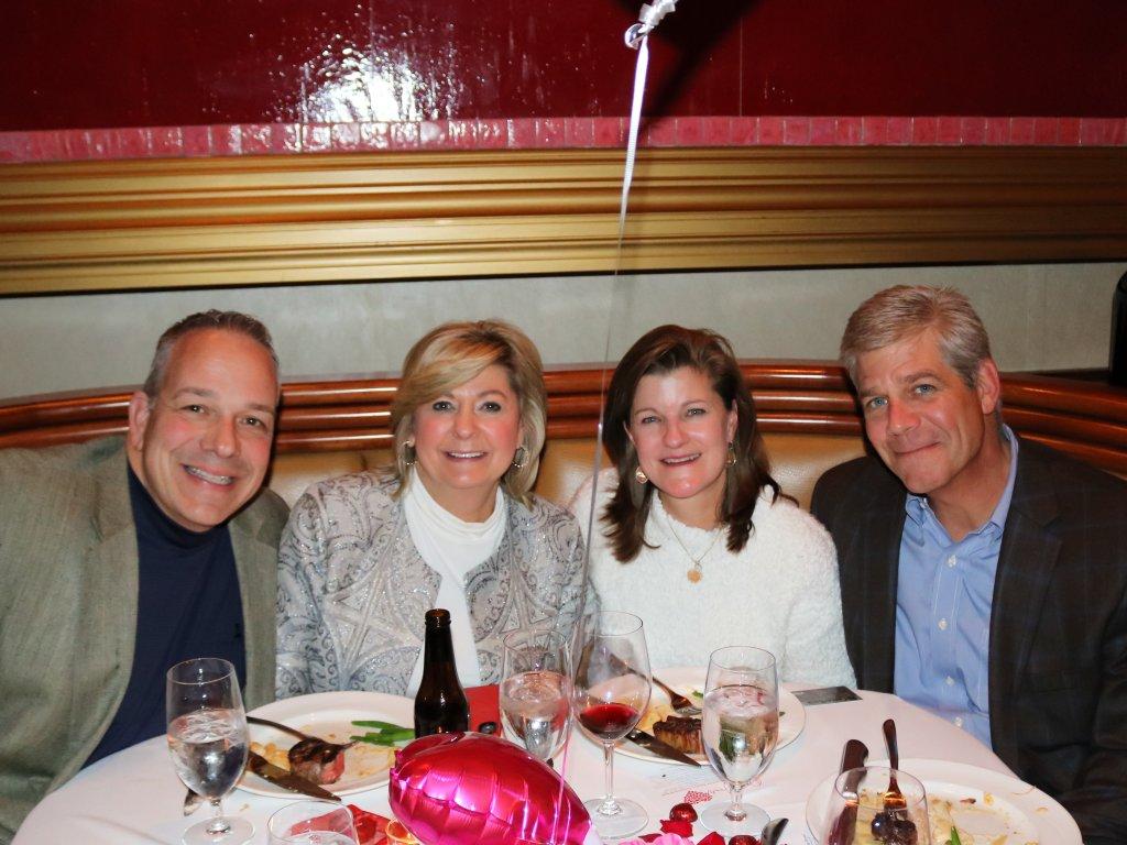 Cupid Sponsors - Jostin Construction, Matt & Debbie Riley with Whitney & Charlie Eckert
