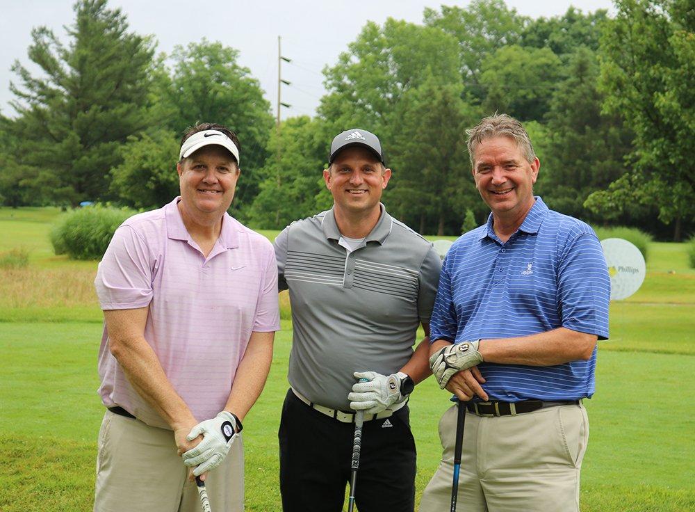 stepping-stones-golf-classic-HP-Hood-team-Doug Reingardt-Clay-Lafferty-Larry-Weidner-cincinnati