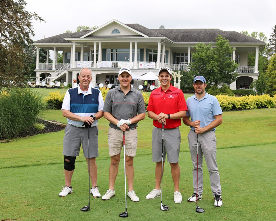 stepping-stones-golf-classic-presenting-sponsor-niagara-bottling-allen-goss-nick-goss-tim-goss-colin-cavanaugh-cincinnati