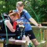 At Stepping Stones, teens and adults with disabilities made summer memories and developed their abilities with cool activities like archery in our summer programs.