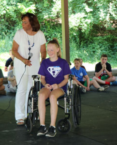 Sharon Draper and student volunteer at Stepping Stones I Cincinnati, Ohio