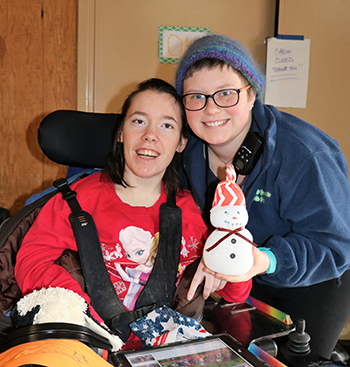 Stepping Stones Winter Overnight Staycation for older teens and adults with disabilities at Camp Allyn.