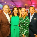 Bloom Gala co-chairs Ceci and Roger David with Kerry and John Mongelluzzo