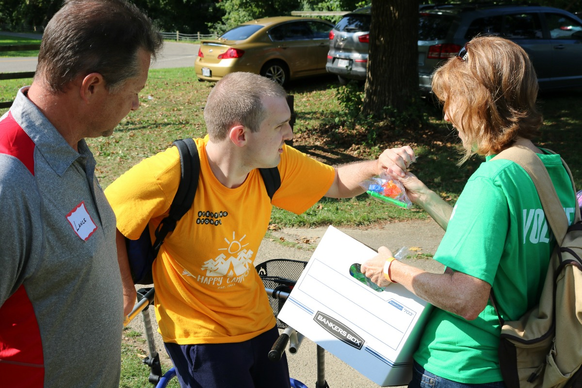 Greater Cincinnati construction professionals volunteer at summer camp for children with disabilities.