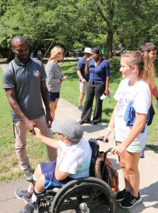 FC Cincinnati Celebrates Camp Kindness Day with Stepping Stones programs for people with disabilities.