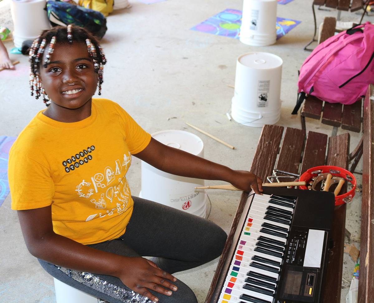 Summer Day Camp Music Therapy program at Stepping Stones I Cincinnati, Ohio