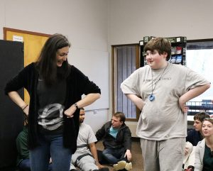 Ensemble Theatre I Students with autism use Hunter Heartbeat Method at Stepping Stones