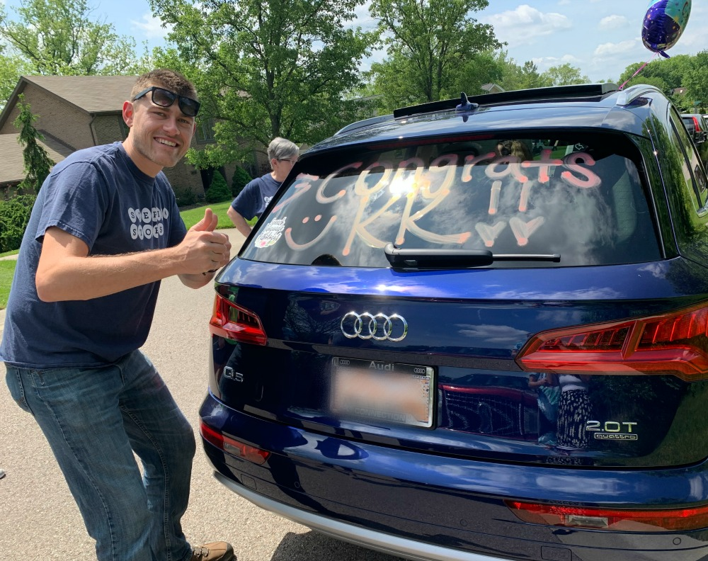 Stepping Stones Celebrates Student with Autism with Drive-By Graduation I Cincinnati, Ohio