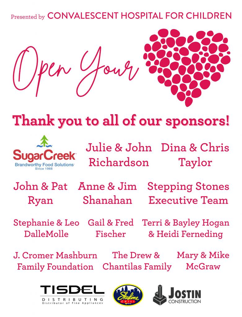 Open Your Heart Sponsors
